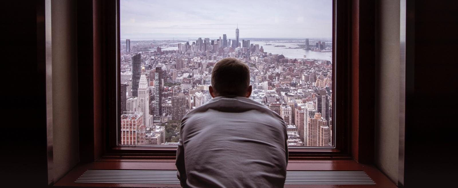 Traveller in lockdown in New York City is self-isolating and stuck at home